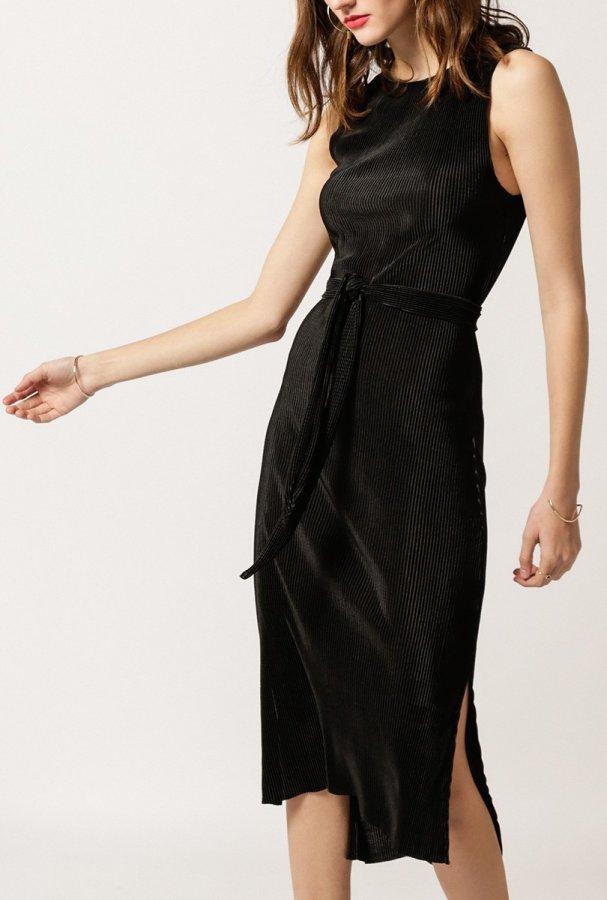 Fine Pleated Maxi Dress