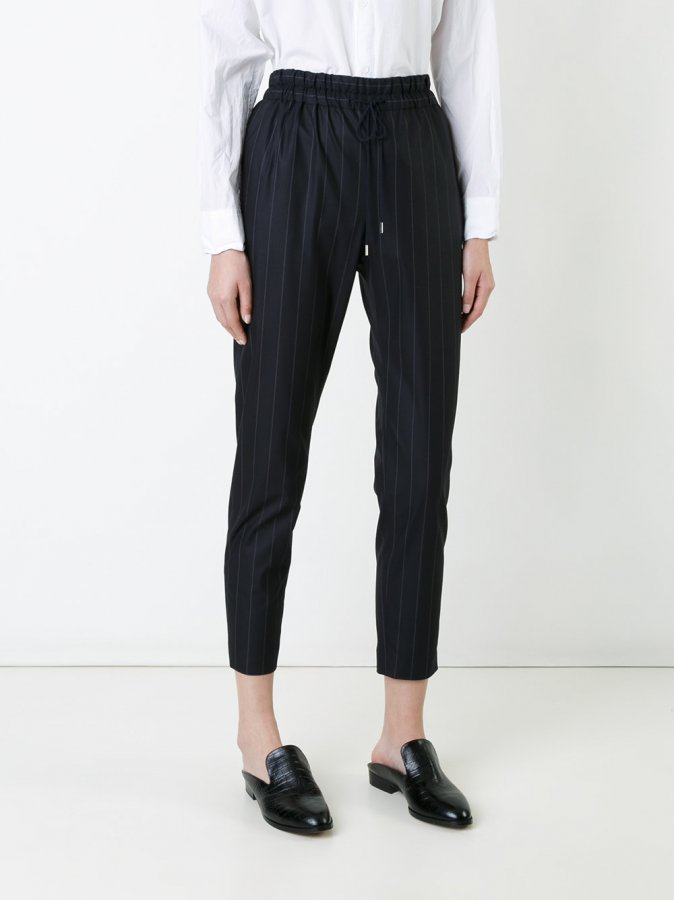 Astraet Pinstripe Cropped Trousers
