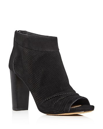 Cosima Peep Toe High Heel Booties