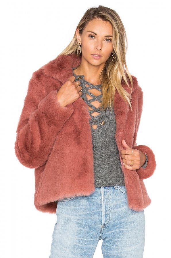 x REVOLVE Mia Faux Fur Jacket
