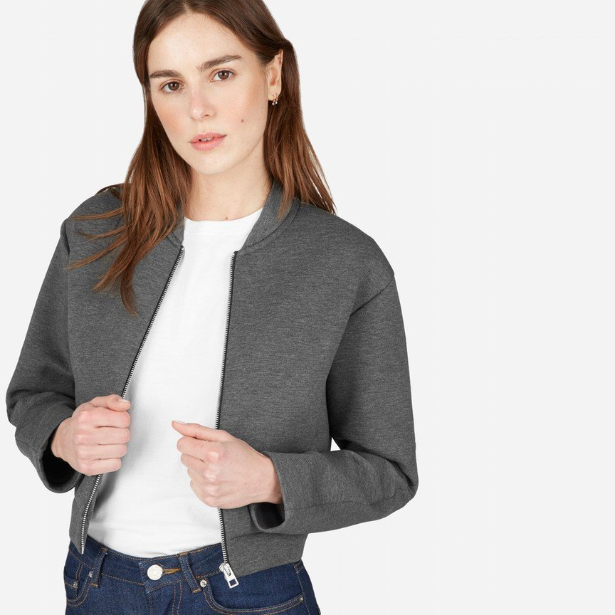 The Street Fleece Cropped Bomber