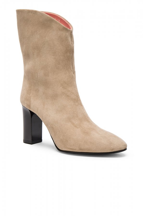Suede Ava Boots in Natural