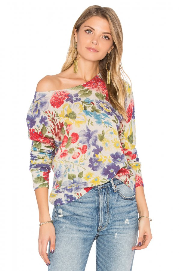 Crop Floral Sweater