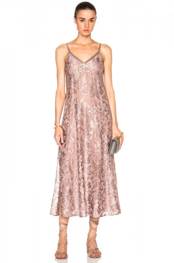 Kate Sylvester Claire Slip Dress in Musk Dusk