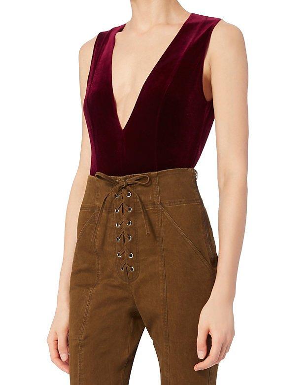 Fleur Du Mal Sleeveless Velvet Bodysuit - INTERMIX®