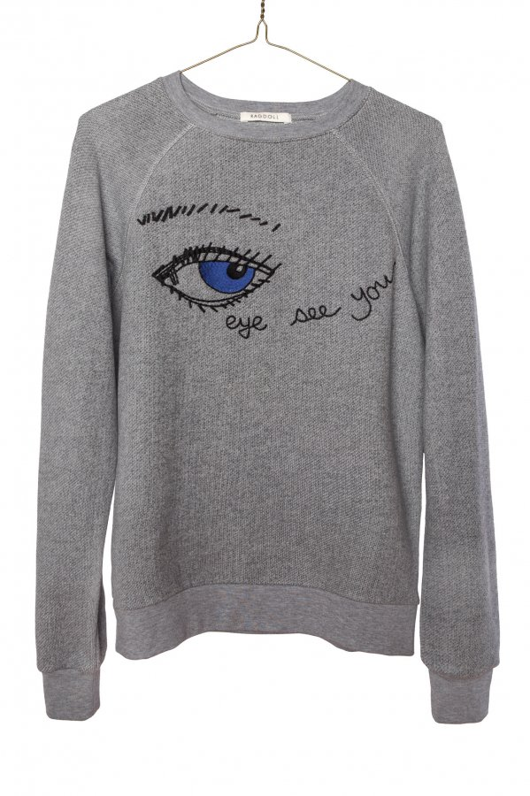 Embroidery Eye Sweatshirt
