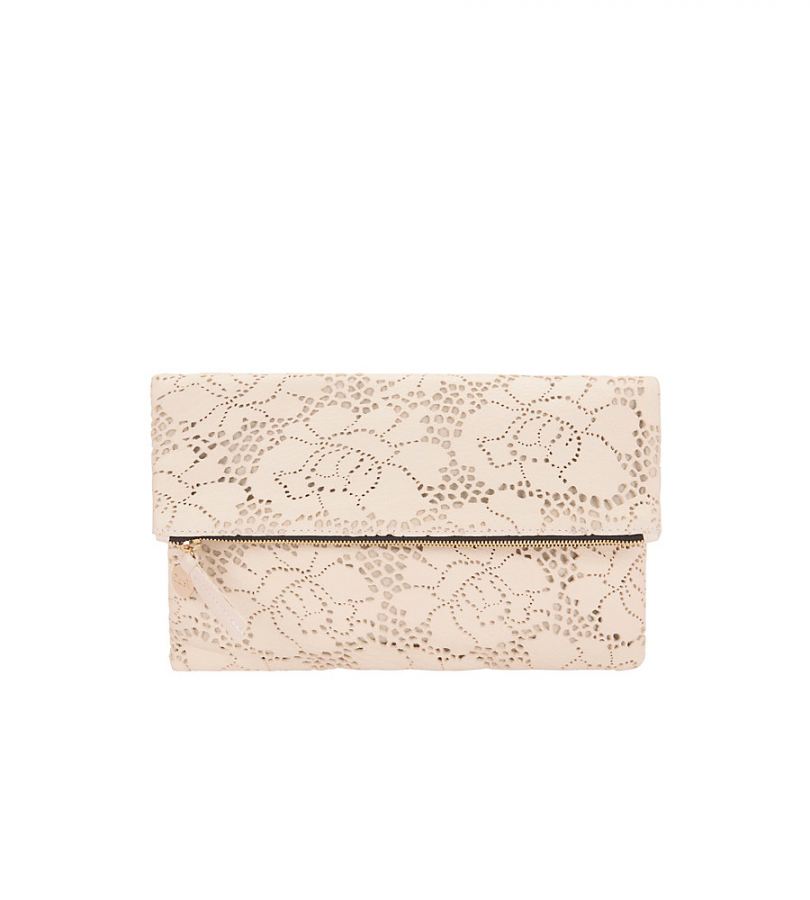 Supreme Foldover Lace Clutch