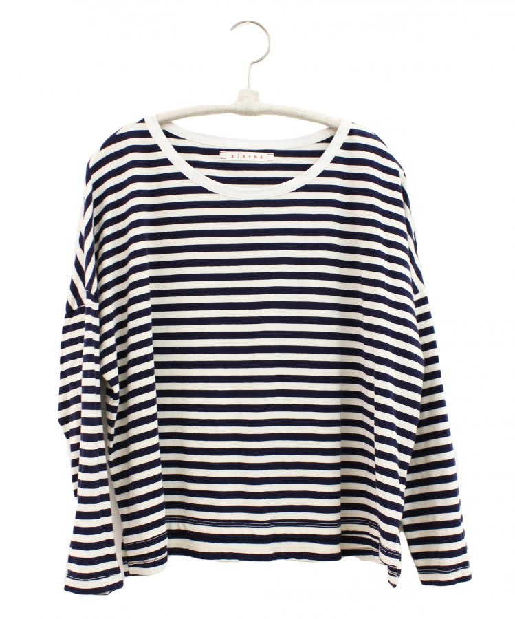 Striped Jersey Ivory Farrah Top