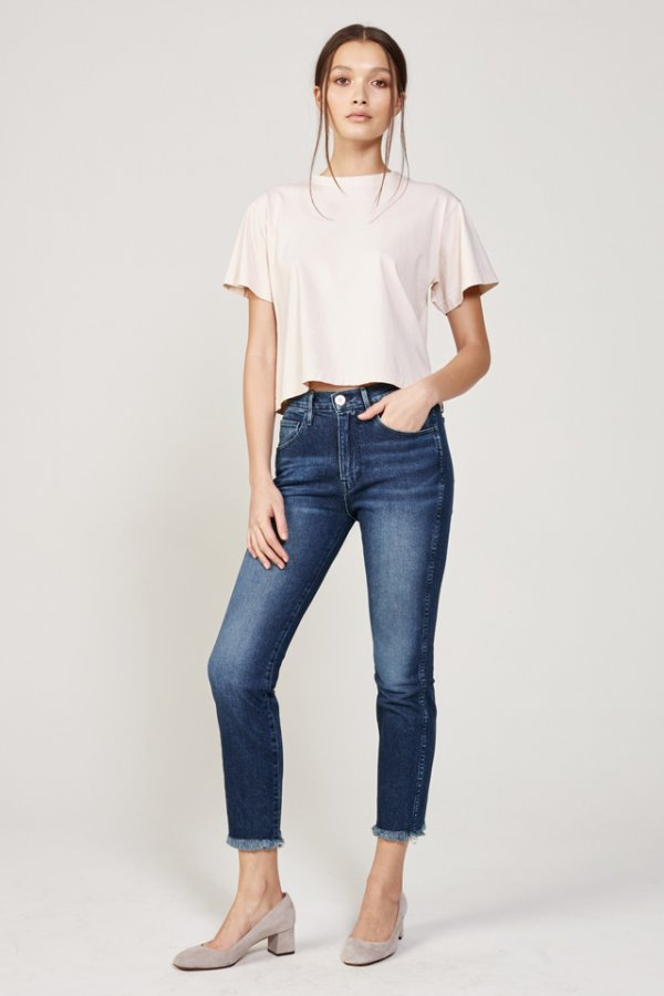 W3 High Rise Straight Authentic Crop