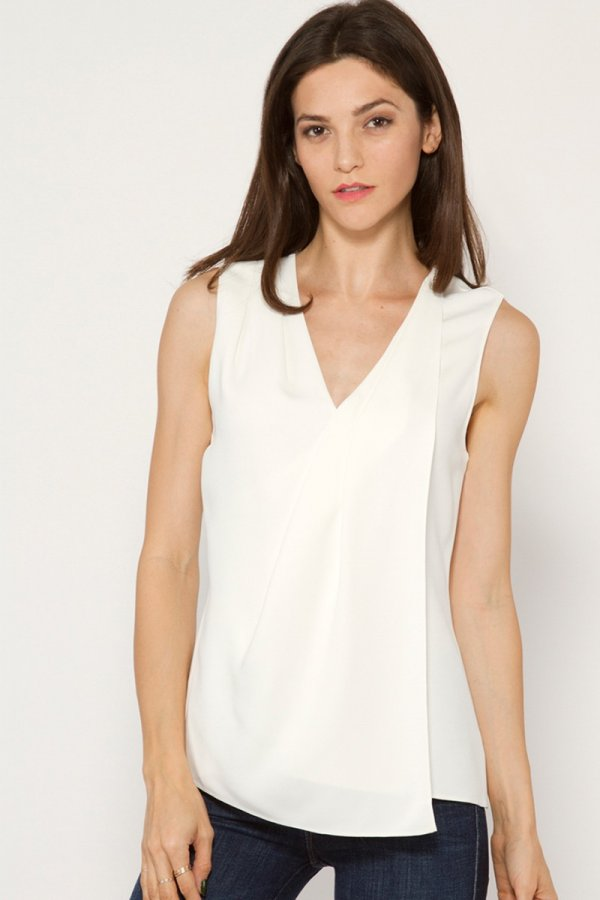 Chain V Neck Top