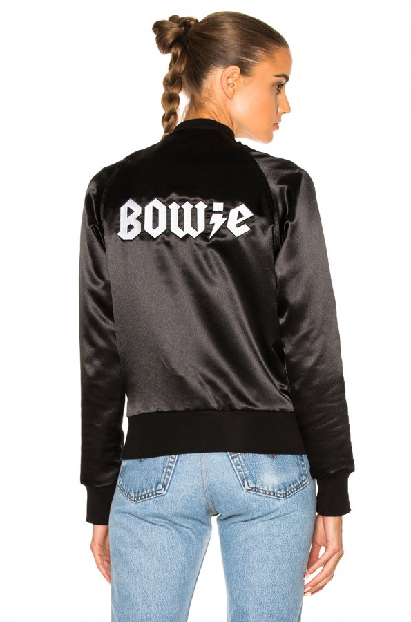 Bowie Bomber Jacket in Black