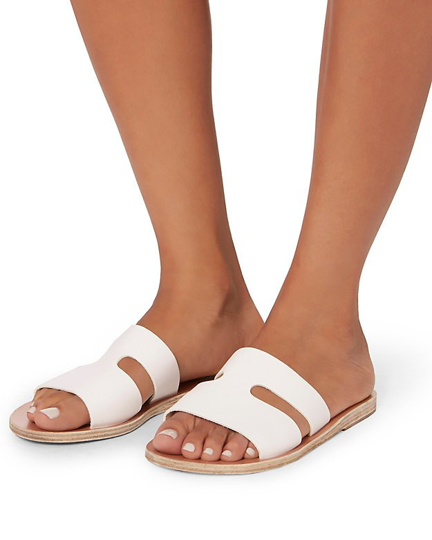Apteros Cutout Leather Slide Sandals