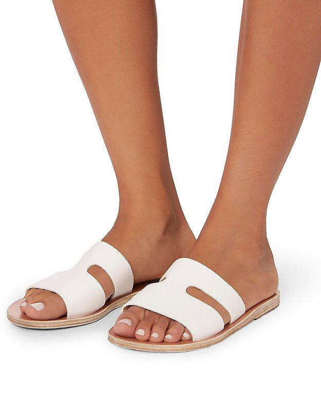 Apteros Cutout Leather Slide Sandals