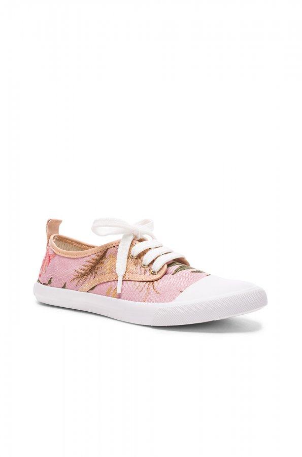 Print Sneakers in Pink Tropical