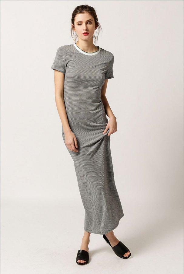 Striped Maxi T-Shirt Dress