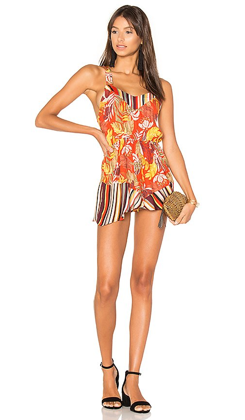 Monsoon Leaves Playsuit