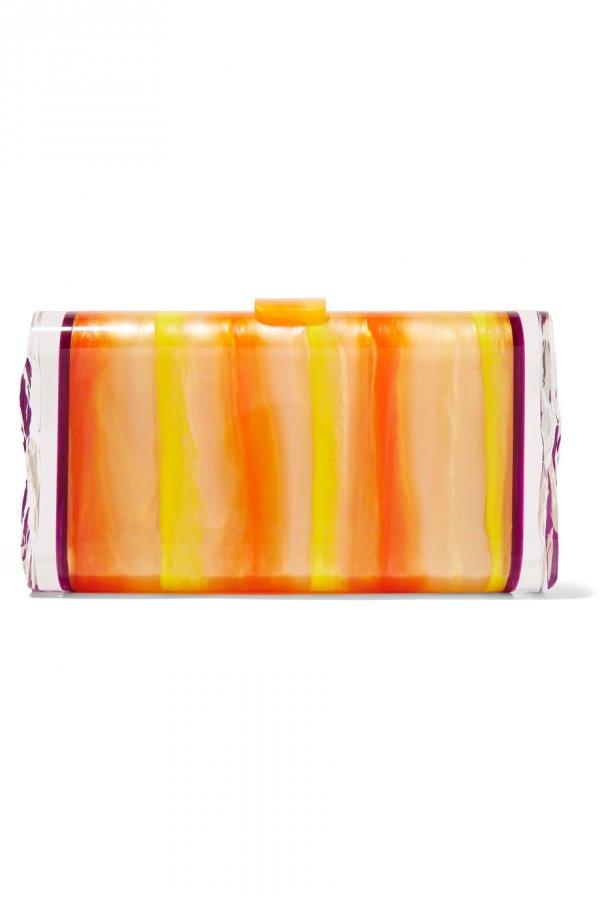 Lara Backlit acrylic box clutch