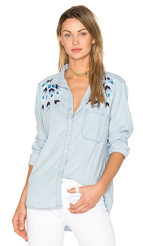Brett Embroidery Button Up