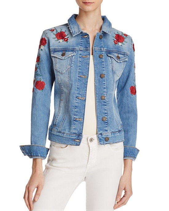 Samantha Embroidered Denim Jacket