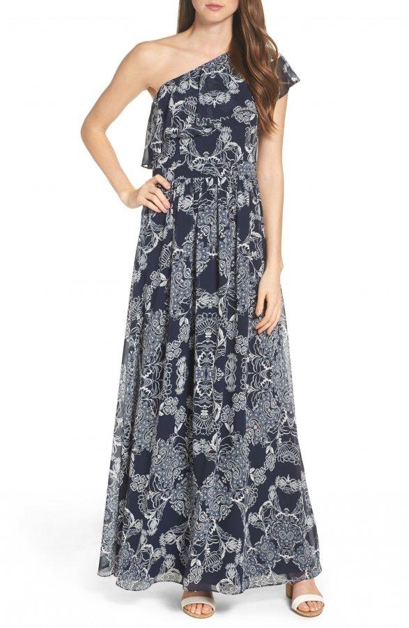 One-Shoulder Maxi Dress