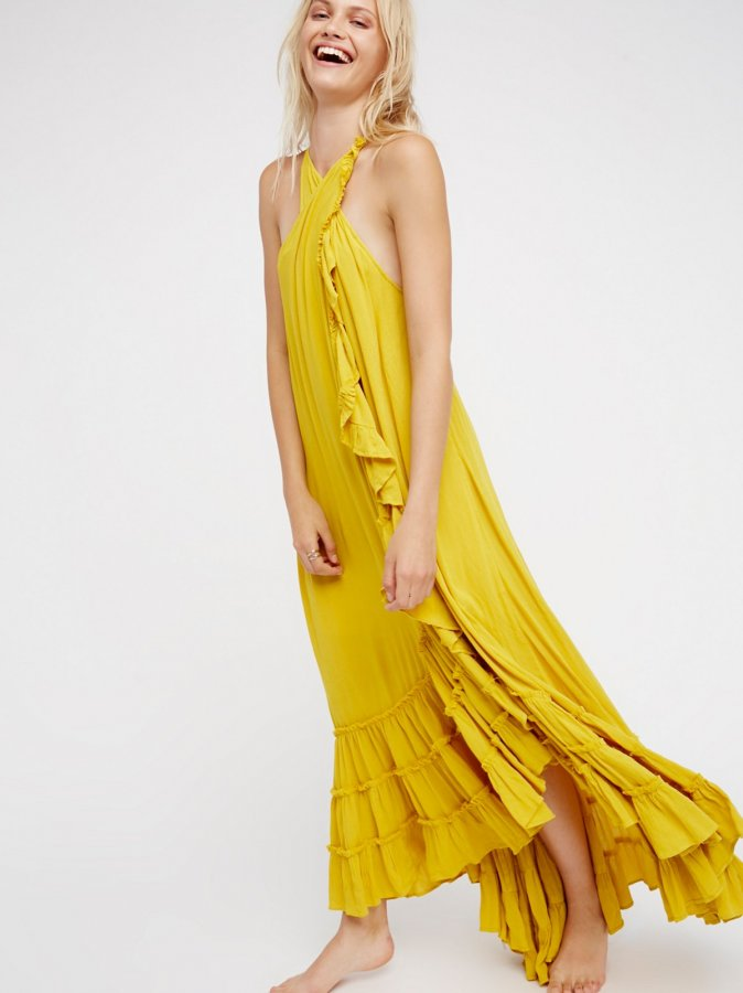 Wrap Around Maxi Dress