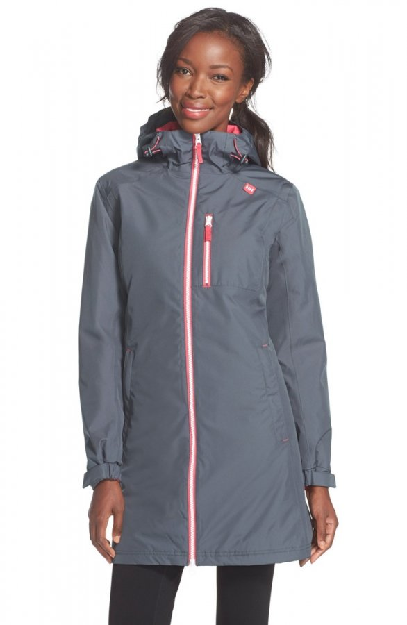 \'Belfast\' Long Waterproof Winter Rain Jacket