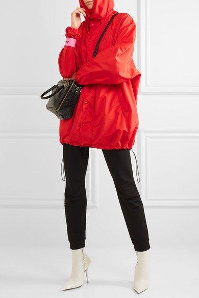 Hooded shell windbreaker jacket