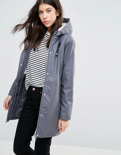 Rain Trench With Borg Liner at asos.com