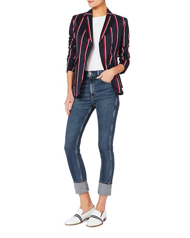 Lou High-Rise Skinny Cuff Jeans