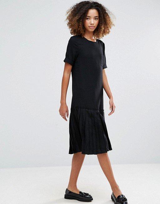 Basic Dropped Hem Dress