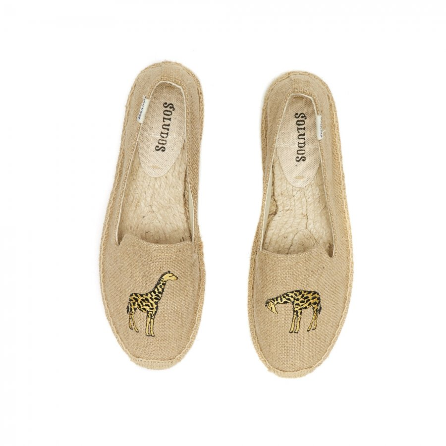 Giraffe Embroidered Smoking Slipper