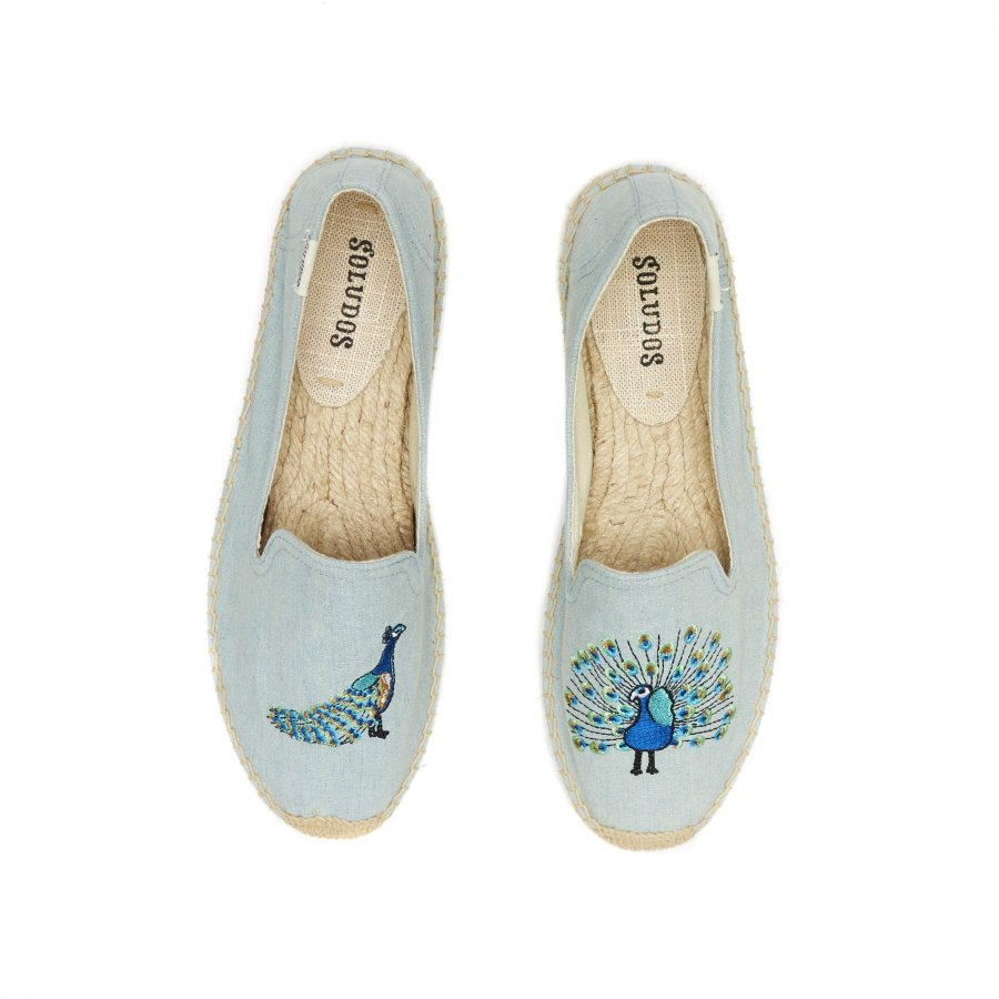Peacock Embroidered Smoking Slipper