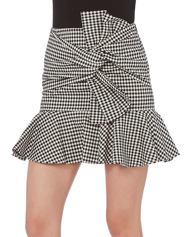 Gingham Picnic Box Mini Skirt