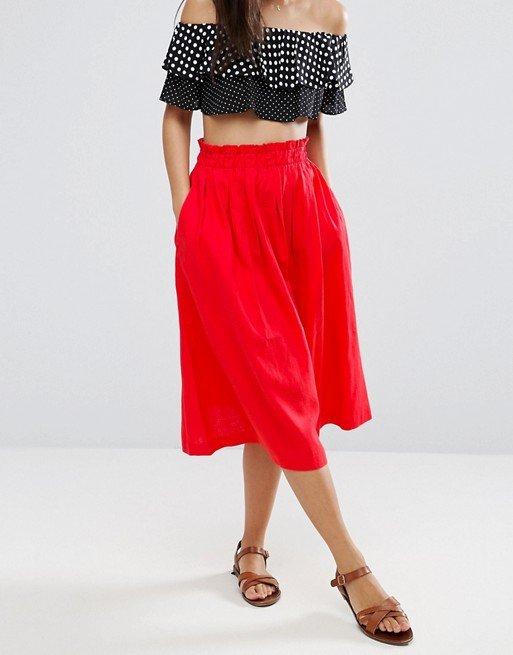 Linen Prom Skirt