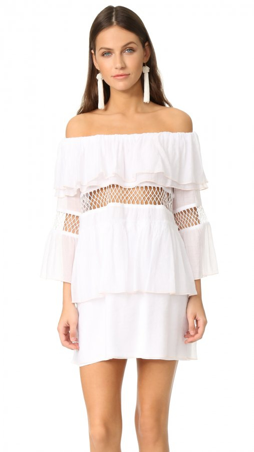 Closer Frill Off Shoulder Cover Up Dress
