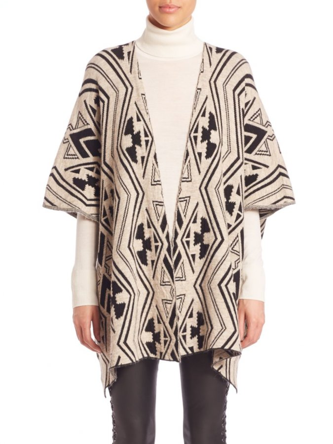 Tribal Pattern Poncho