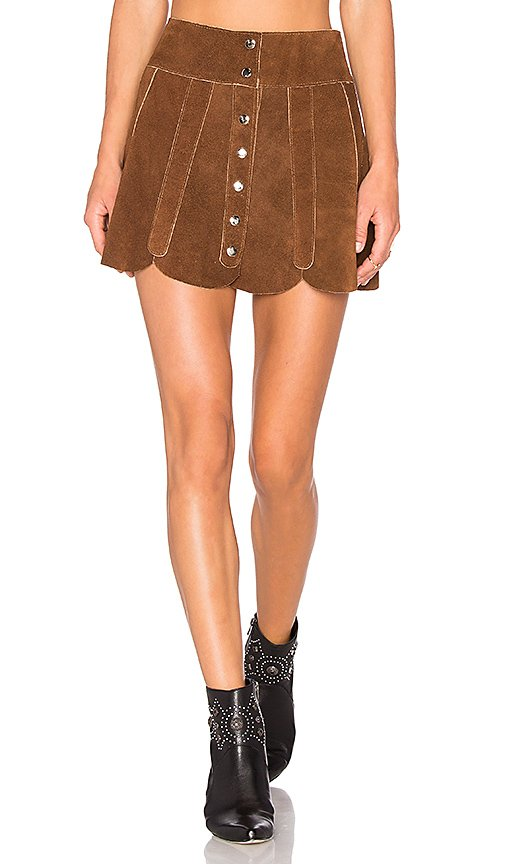 x REVOLVE Scalloped Snap Skirt