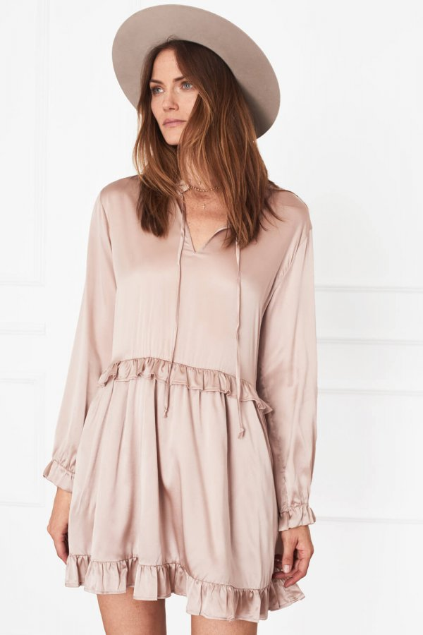 Frill Silk Dress