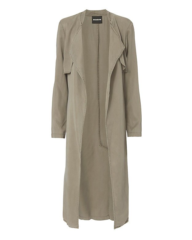 Long Twill Trench Jacket