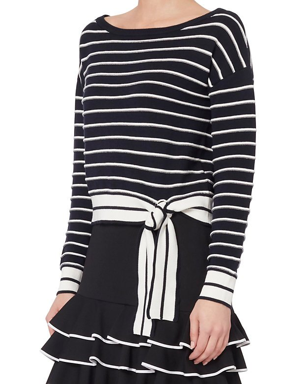Gia Striped Off-The-Shoulder Sweater