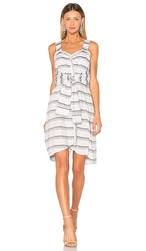 Tie Front Stripe Dress