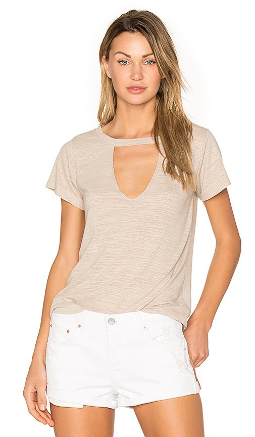 Short Sleeve Cut Out V Tee