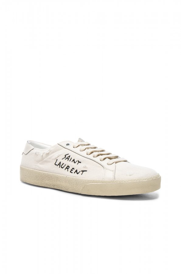 Leather Court Classic Logo Sneakers