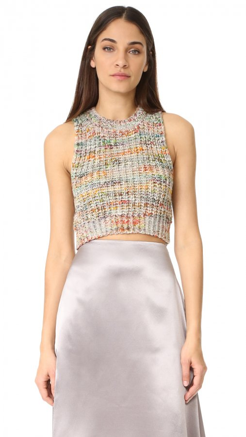 Zelia Multi Sleeveless Crop Sweater