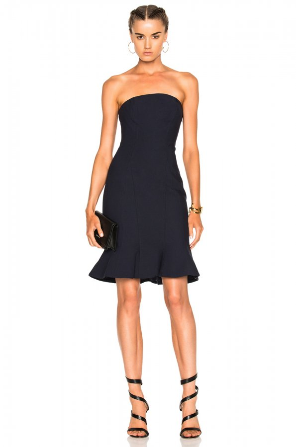 Calvina Dress in Navy
