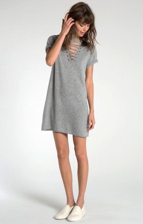 Abaca Lace Front Mini Dress