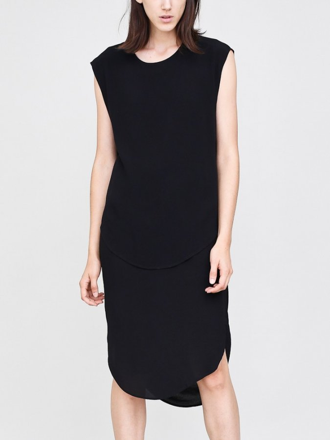 Crossover drape back dress