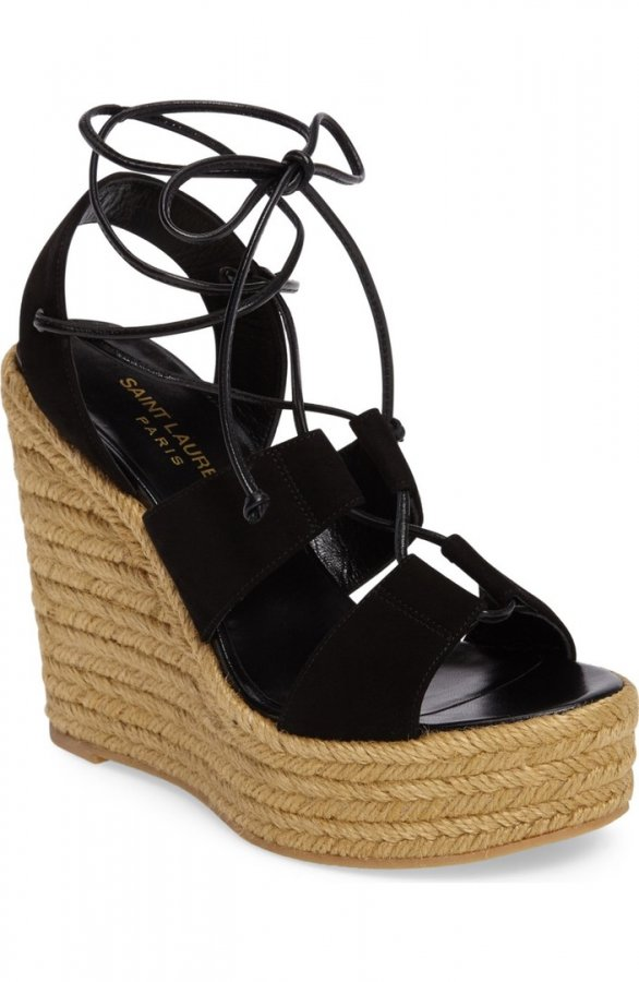 Woven Espadrille Wedge Sandal