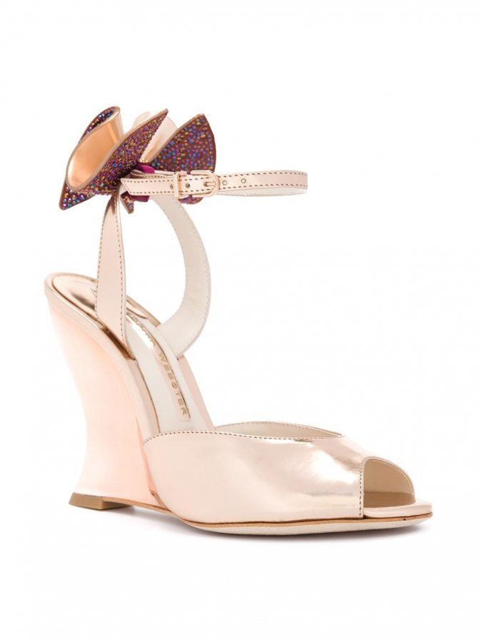 Bow Detail Wedge Sandals