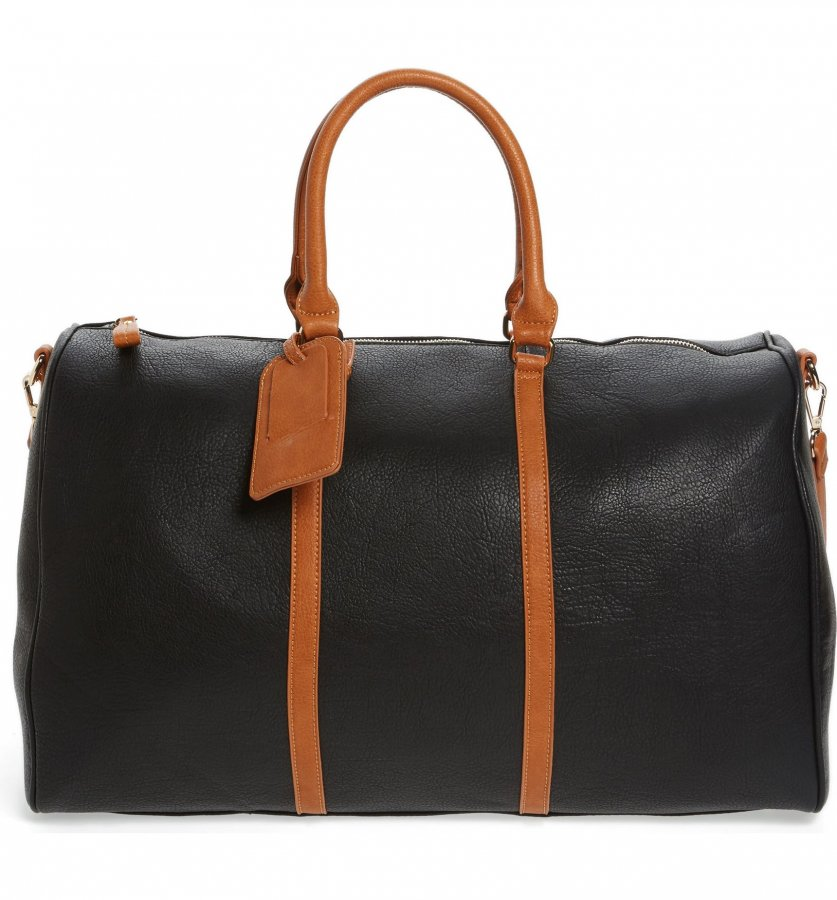 \'Lacie\' Faux Leather Duffel Bag
